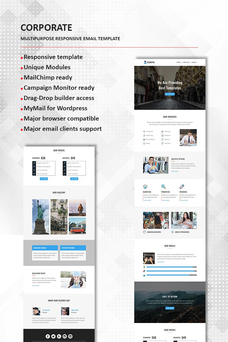Corporate Multipurpose Responsive Newsletter Template 65866