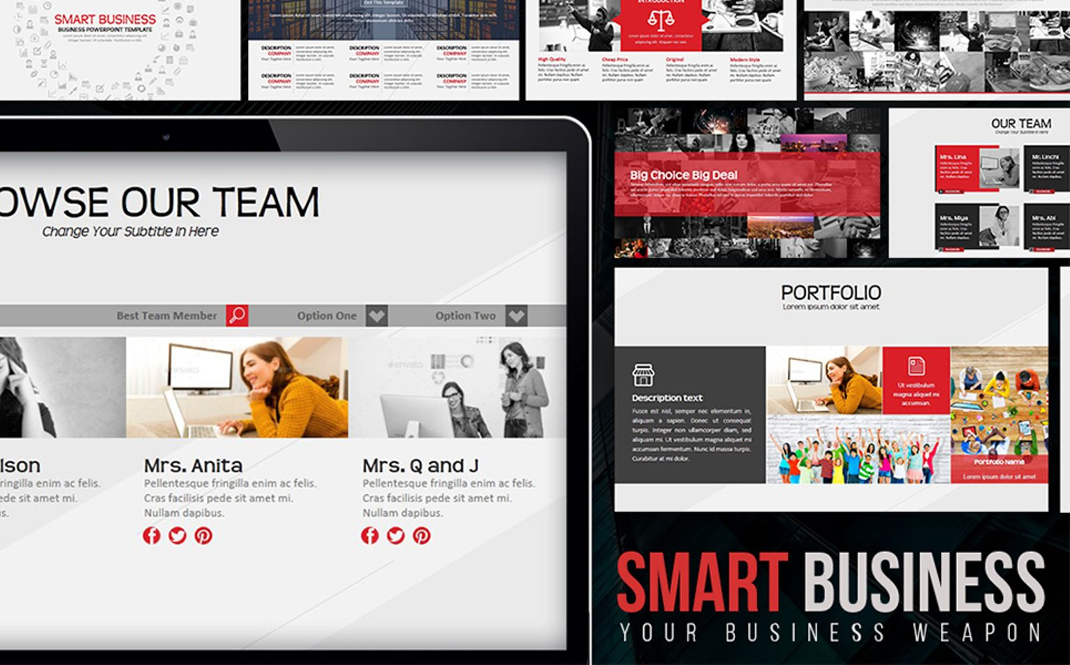 Smart business powerpoint template 65685 smart business powerpoint template big screenshot toneelgroepblik Images