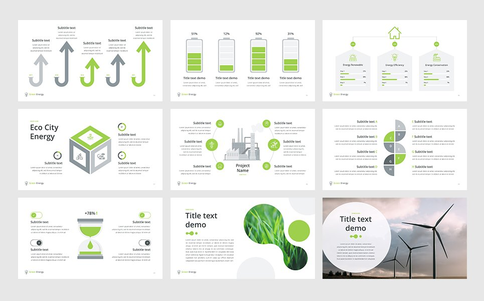 Green Energy Powerpoint Template 65675