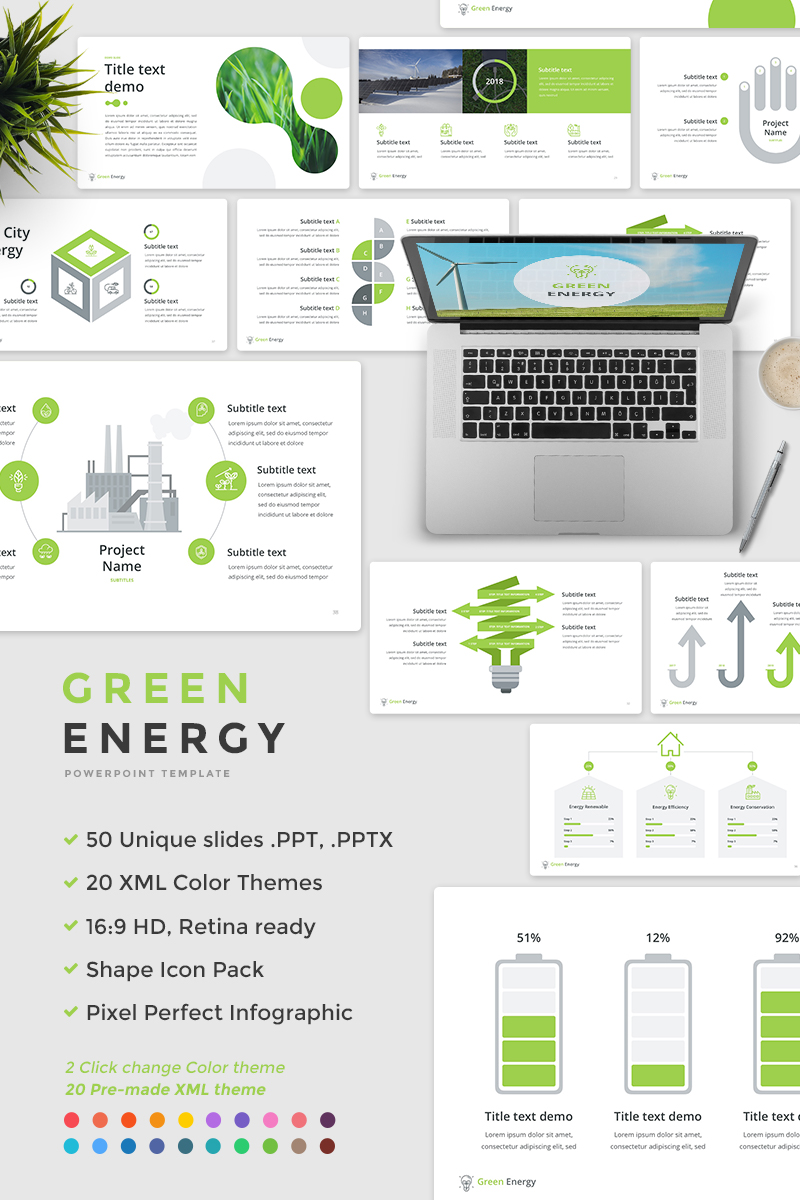 Green energy powerpoint template 65675 green energy powerpoint template toneelgroepblik Choice Image