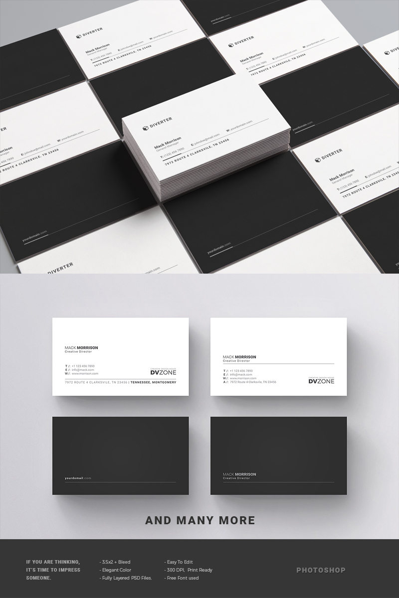 Business Card Pack Corporate Identity Template #65651