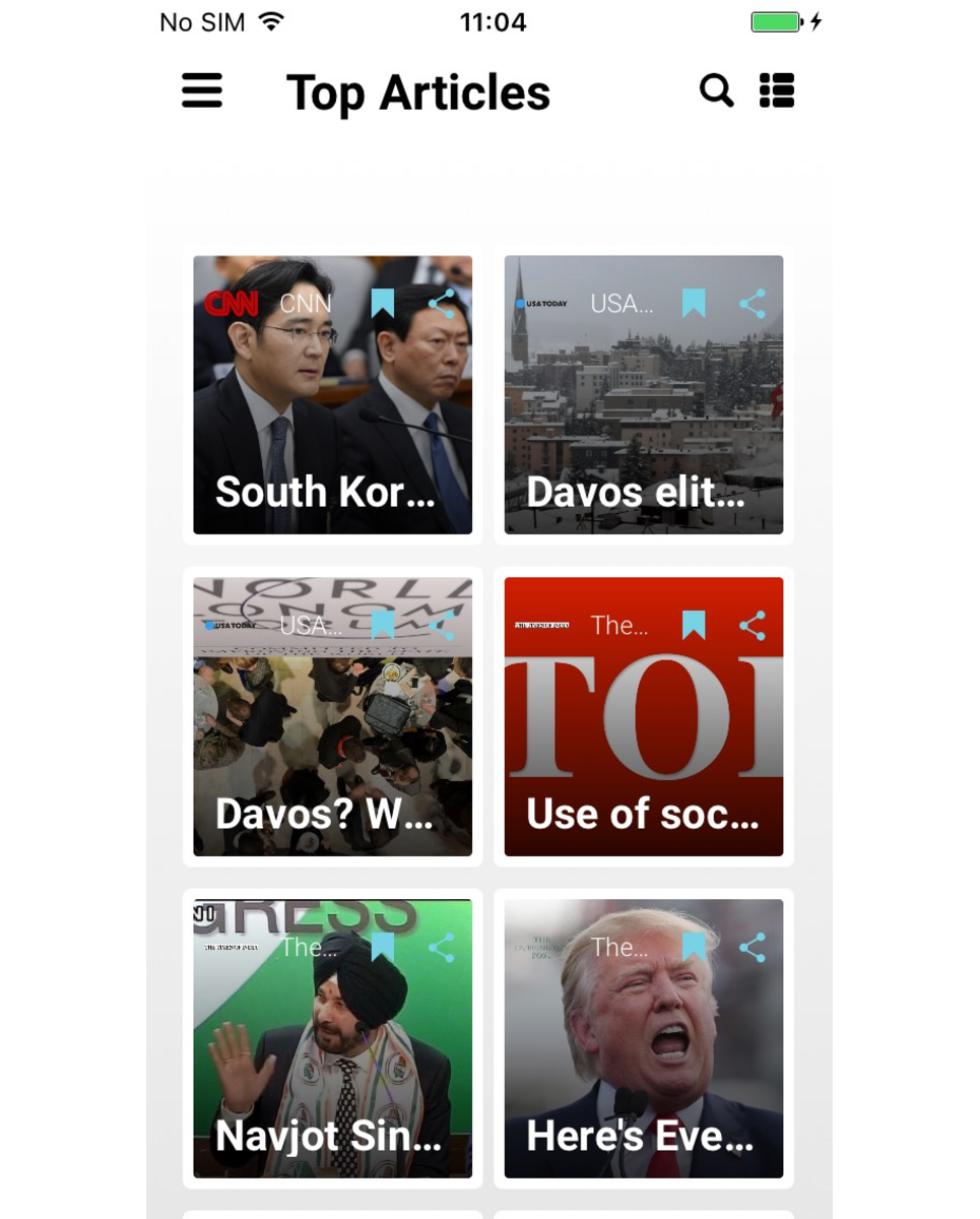 Newsamp Swift News App Template 65694