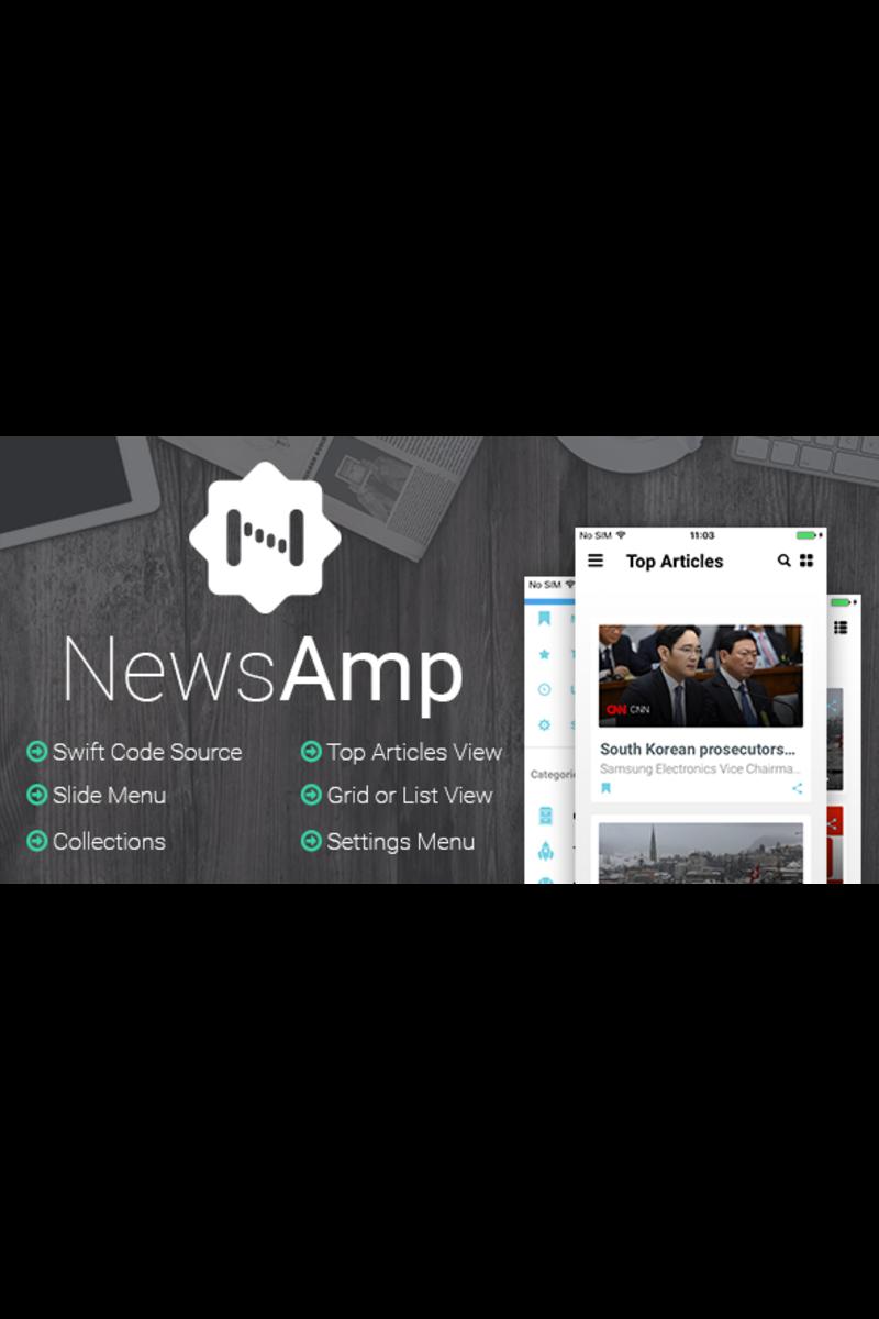 NewsAmp - Swift News App Template #65694