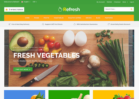 Refresh - Food & Restaurant