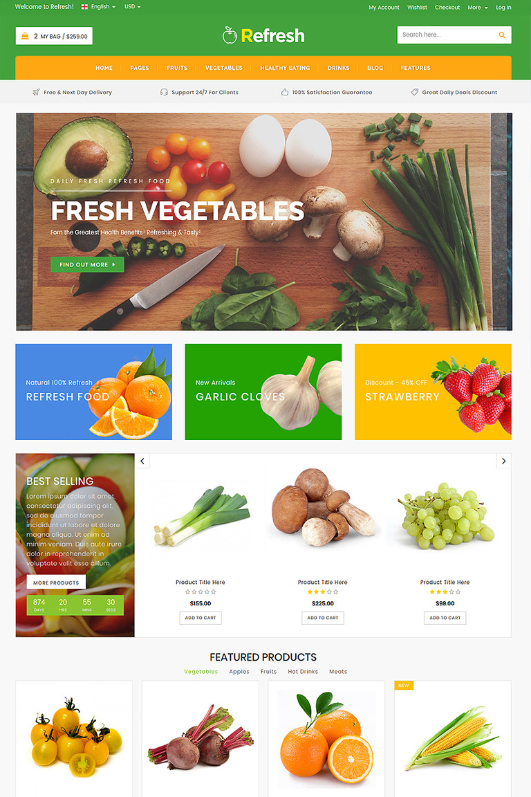 Refresh food restaurant website template website template 65825 refresh food restaurant website template website template big screenshot maxwellsz