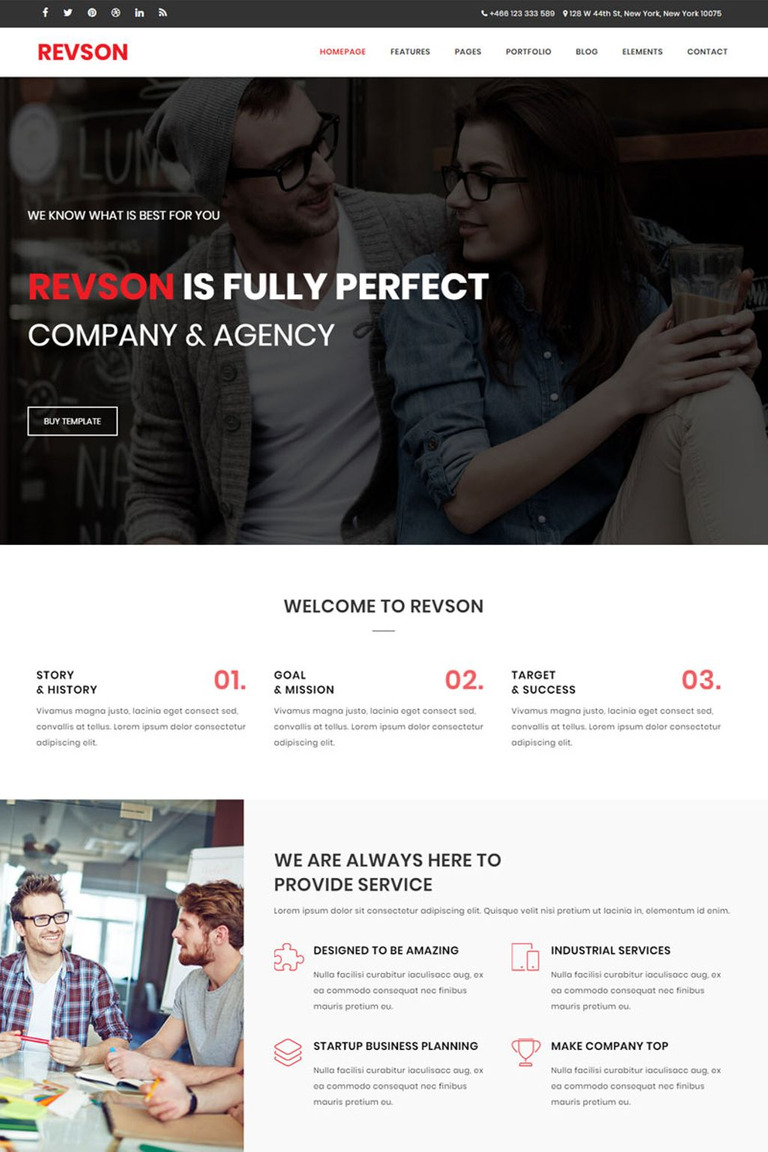 Revson - Multipurpose HTML5 Website Template #65765