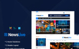 Template Joomla Flexível para Sites de Portal de Noticias №65707