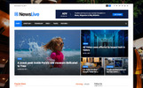 """Newslive - Responsive News Magazine"" 响应式Joomla模板"
