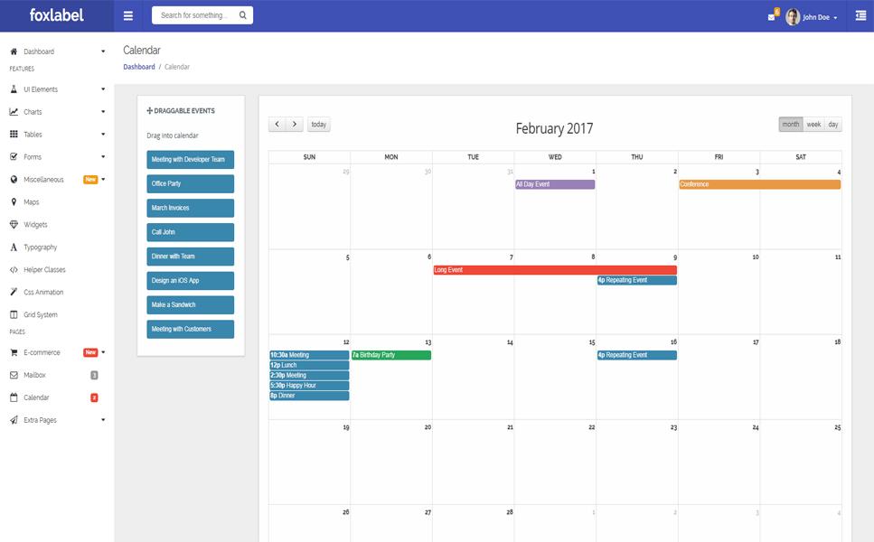 Foxlabel - AngularJS + Bootstrap 4 Admin Template #64506
