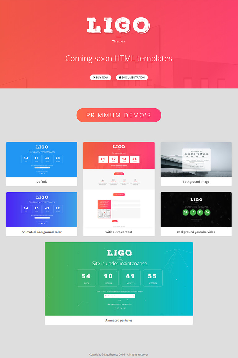 Ligothemes Coming Soon Landing Page Template - Bootstrap landing page template
