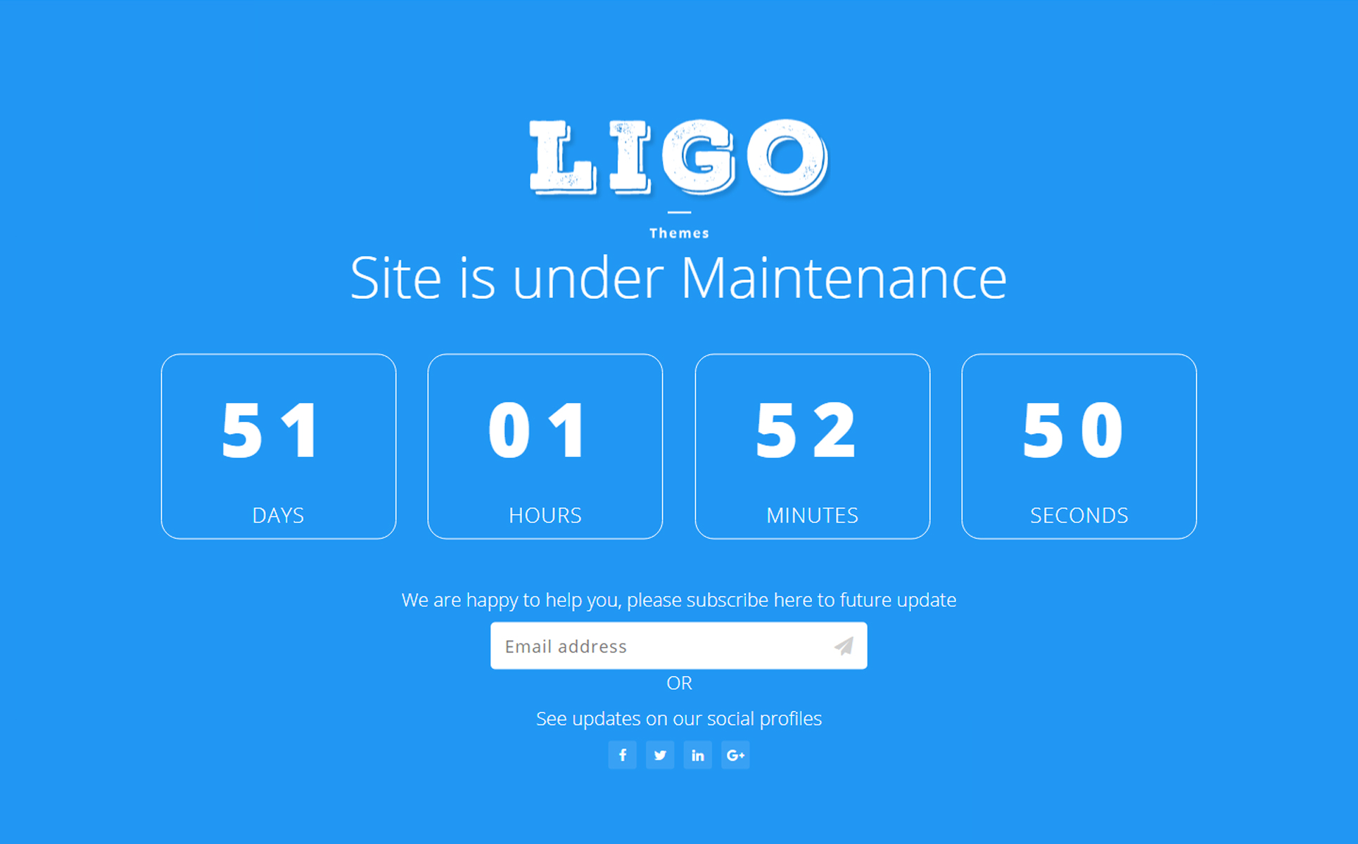 coming soon landing pages