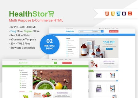 Health Shop - Multi Purpose eCommerce