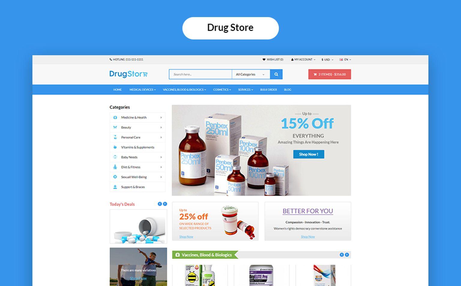 Multi Purpose ECommerce Website Template #65772