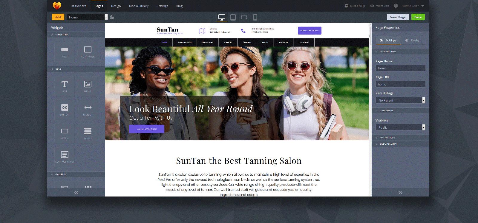 SunTan - Tanning Salon Moto CMS 3 Template