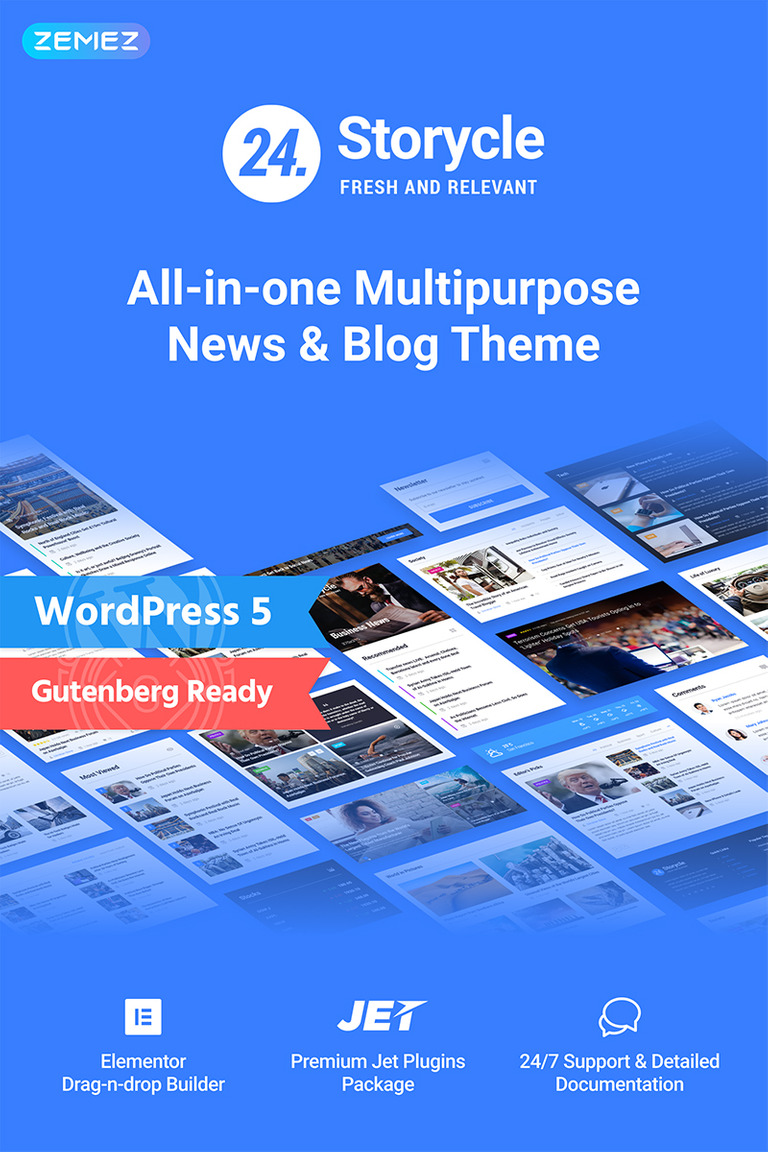 24 Storycle - Multipurpose News Portal Elementor WordPress Theme