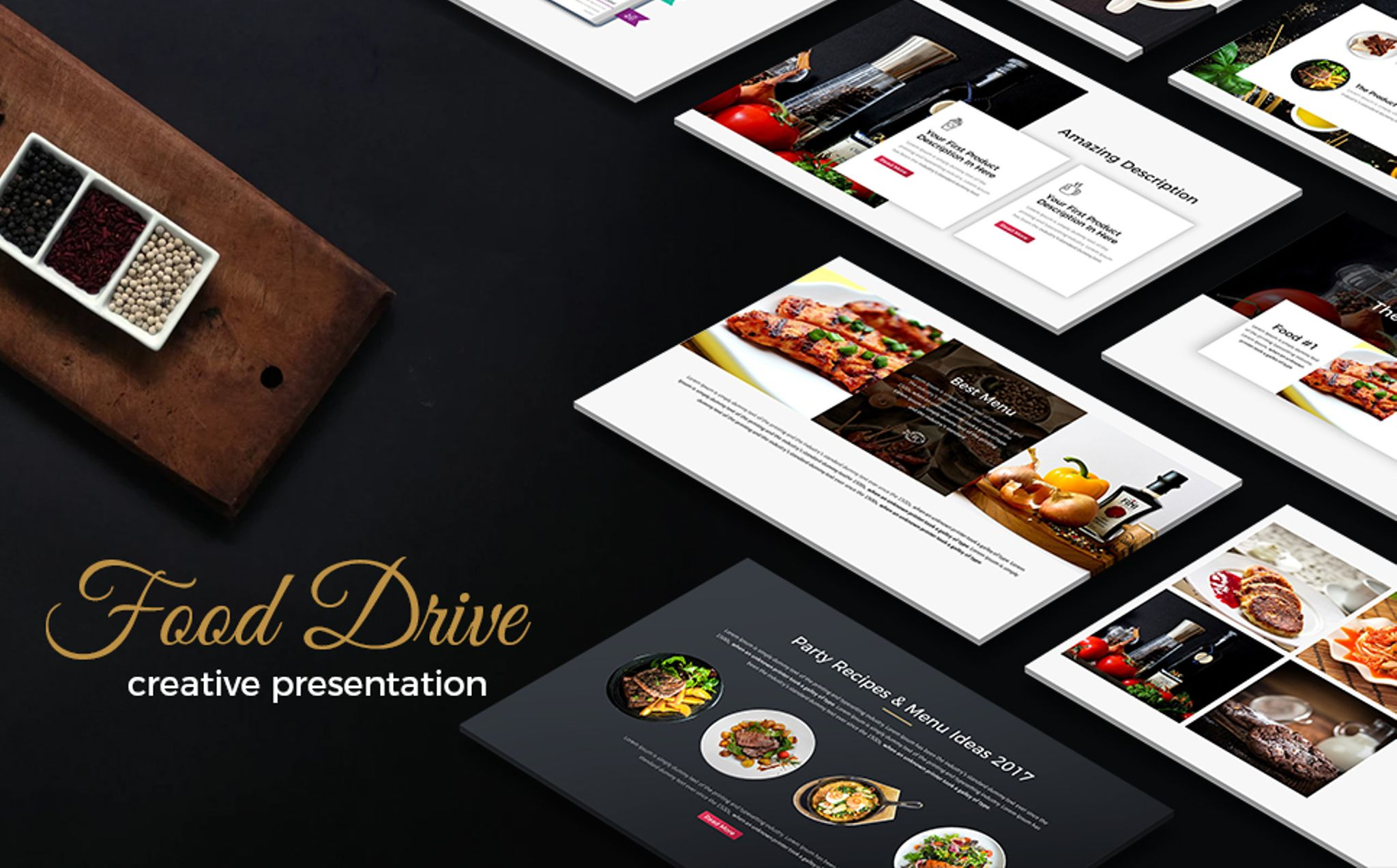 food drive presentation powerpoint template 65761