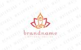 Praying Lotus Logo Template