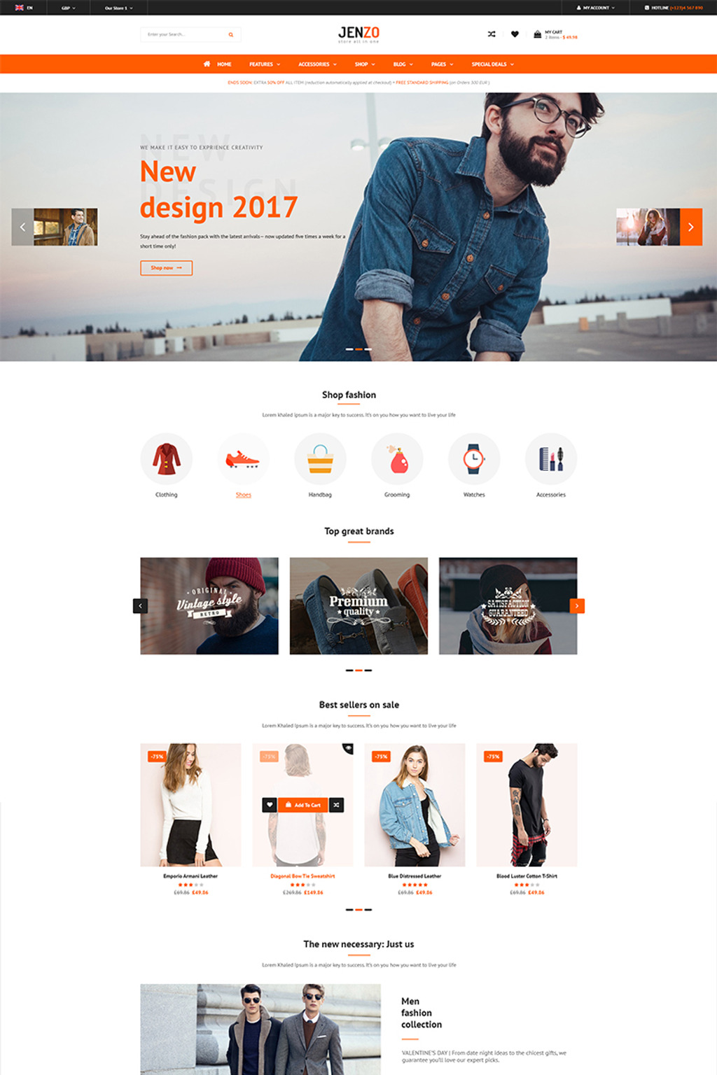 Jenzo - Multipurpose Premium Magento Theme Big Screenshot