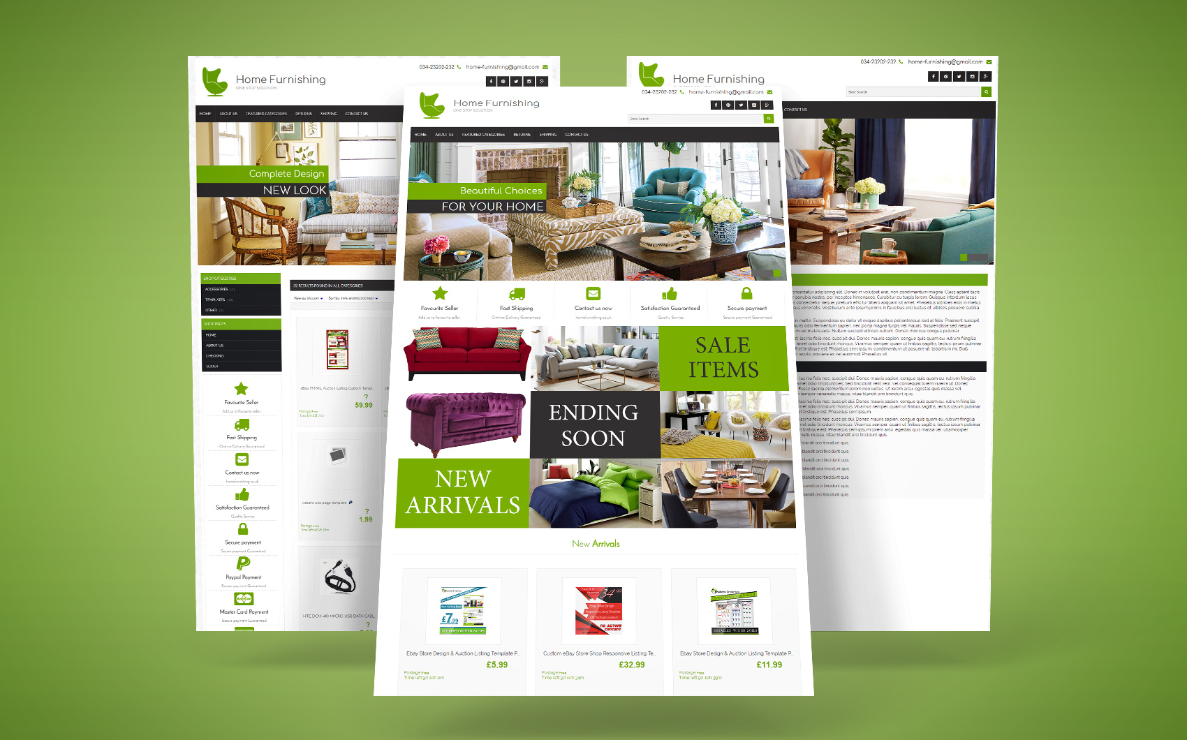 ebay templates, ecommerce website designer