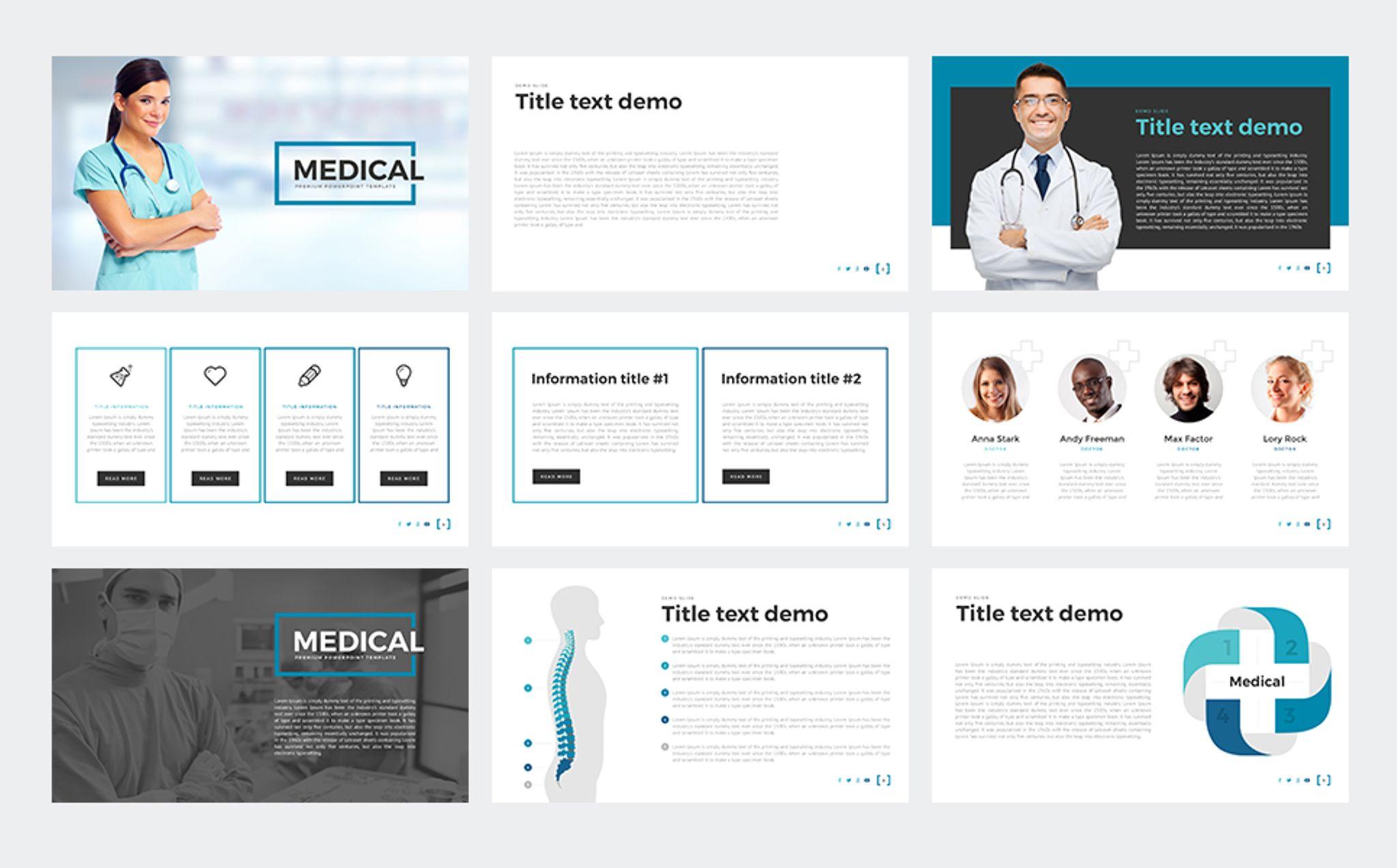 PowerPoint Vorlage #65790 für Medizin