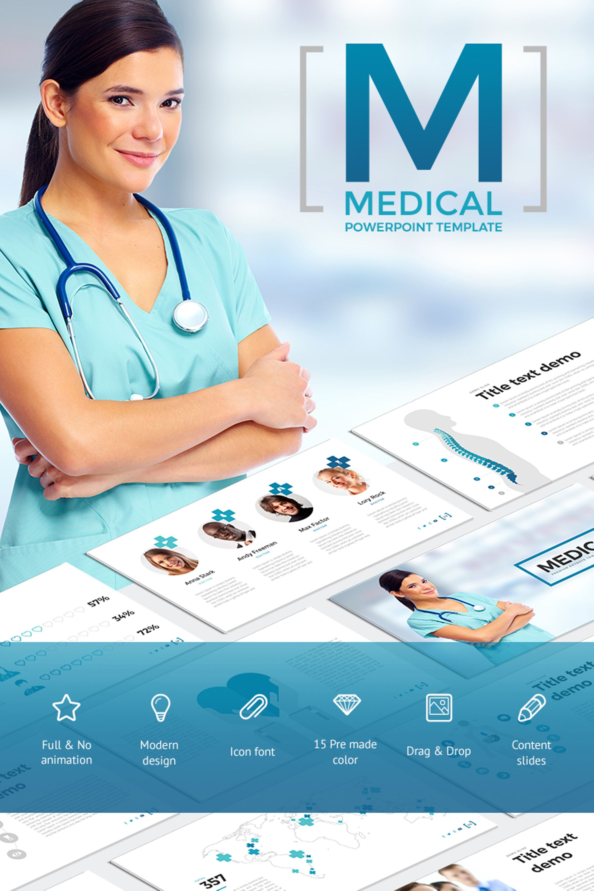 medical - powerpoint template #65790, Modern powerpoint