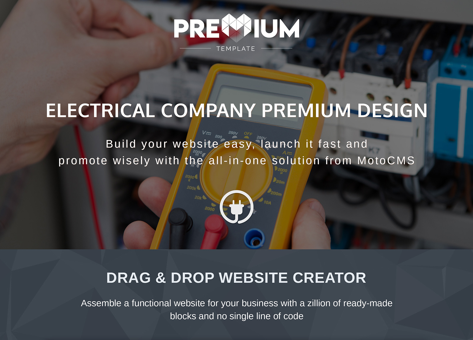 Wire - Electrical Company Moto CMS 3 Template
