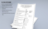 FIX - Clean Resume Template