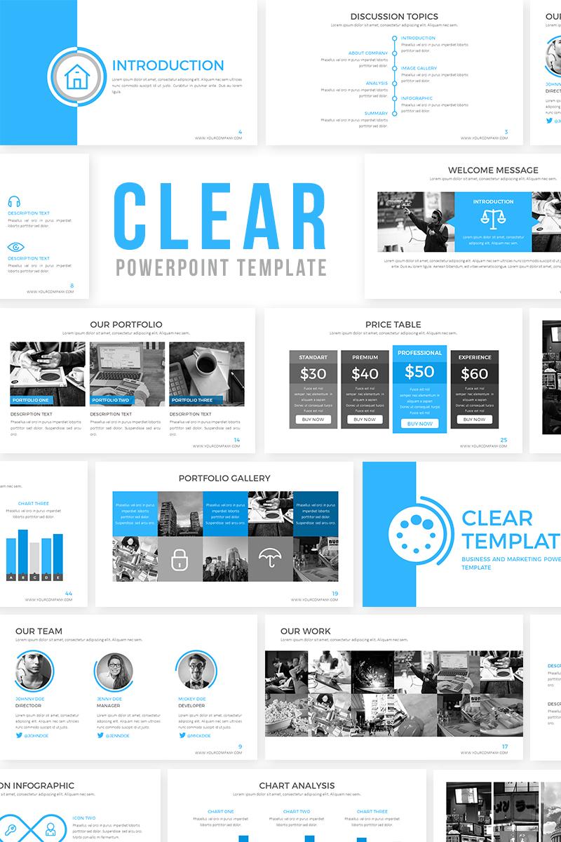 Clear presentation powerpoint template 65722 toneelgroepblik Gallery