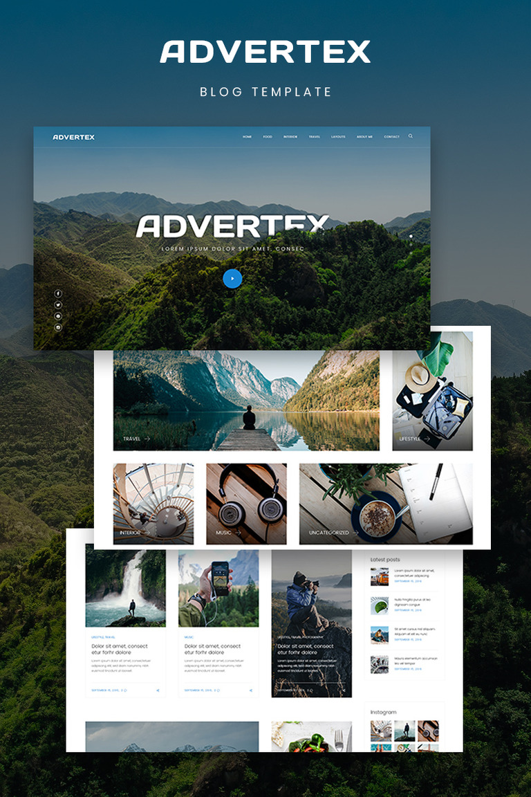 Advertex - Travel Personal Blog WordPress Theme