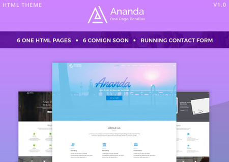 Ananda - One Page Parallax