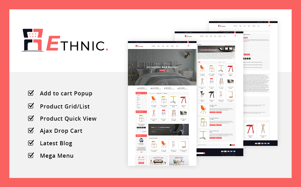 Ethnic Furniture PrestaShop Theme
