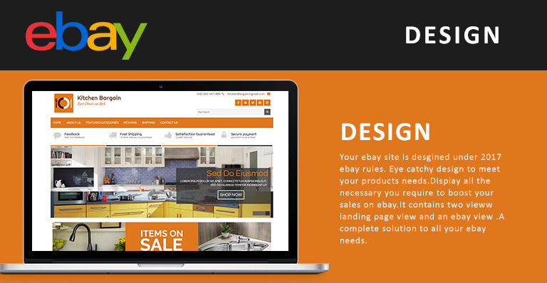 Kitchen Bargains EBay Template - Ebay website template