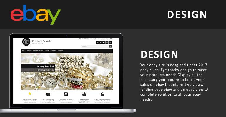Precious Jewels EBay Template - Buy ebay template