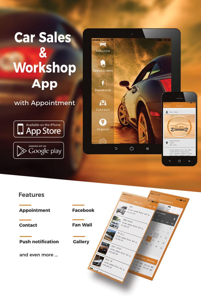 Plantilla de aplicación #65747 para Sitio de Concesionarios de coches