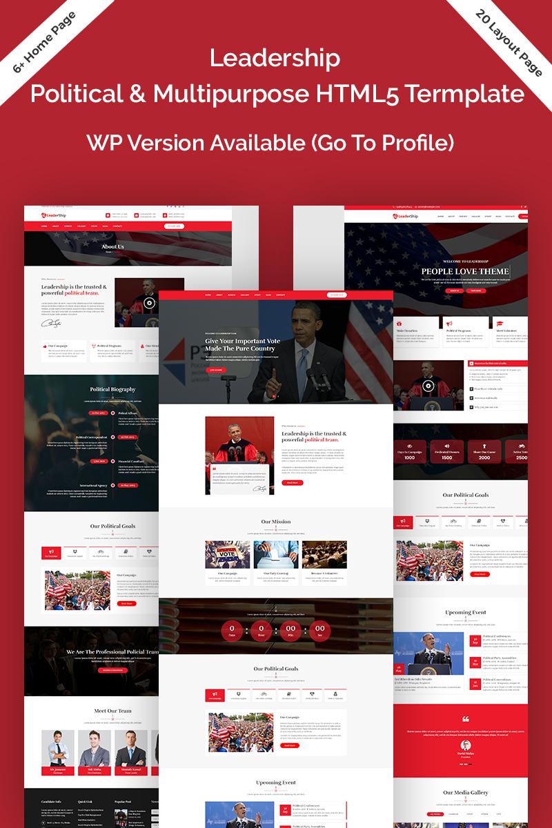Leadership Political Html5 Website Template 73549