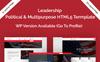 """Website Vorlage namens """"Leadership Political HTML5"""" Großer Screenshot"""