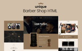 UNIQUE- Barber Salon Website Template
