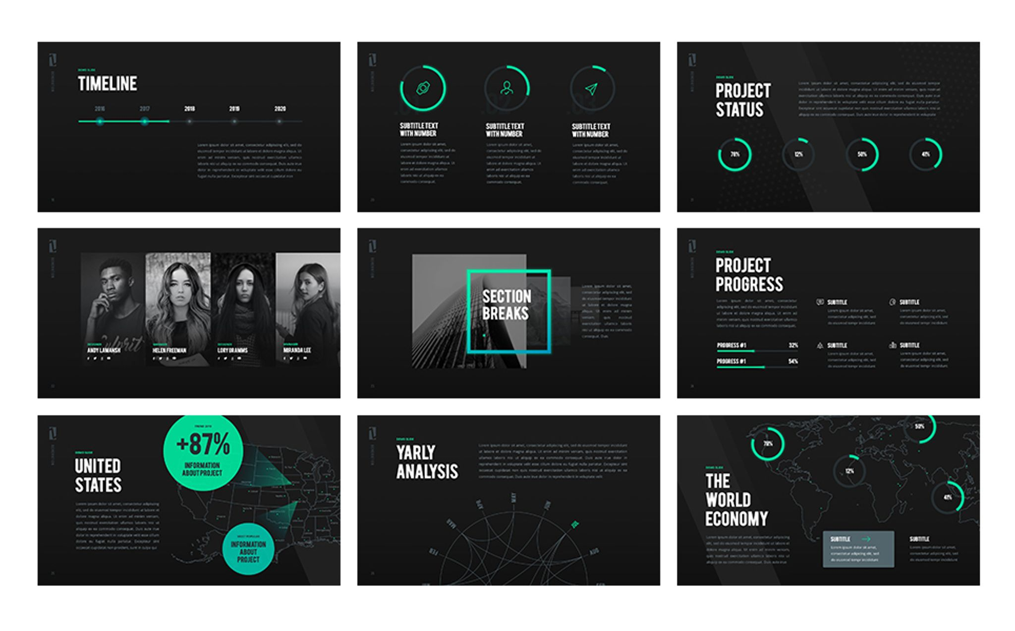 z generation - creative powerpoint template #65792, Modern powerpoint