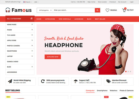 Famous - Electronics Store HTML5