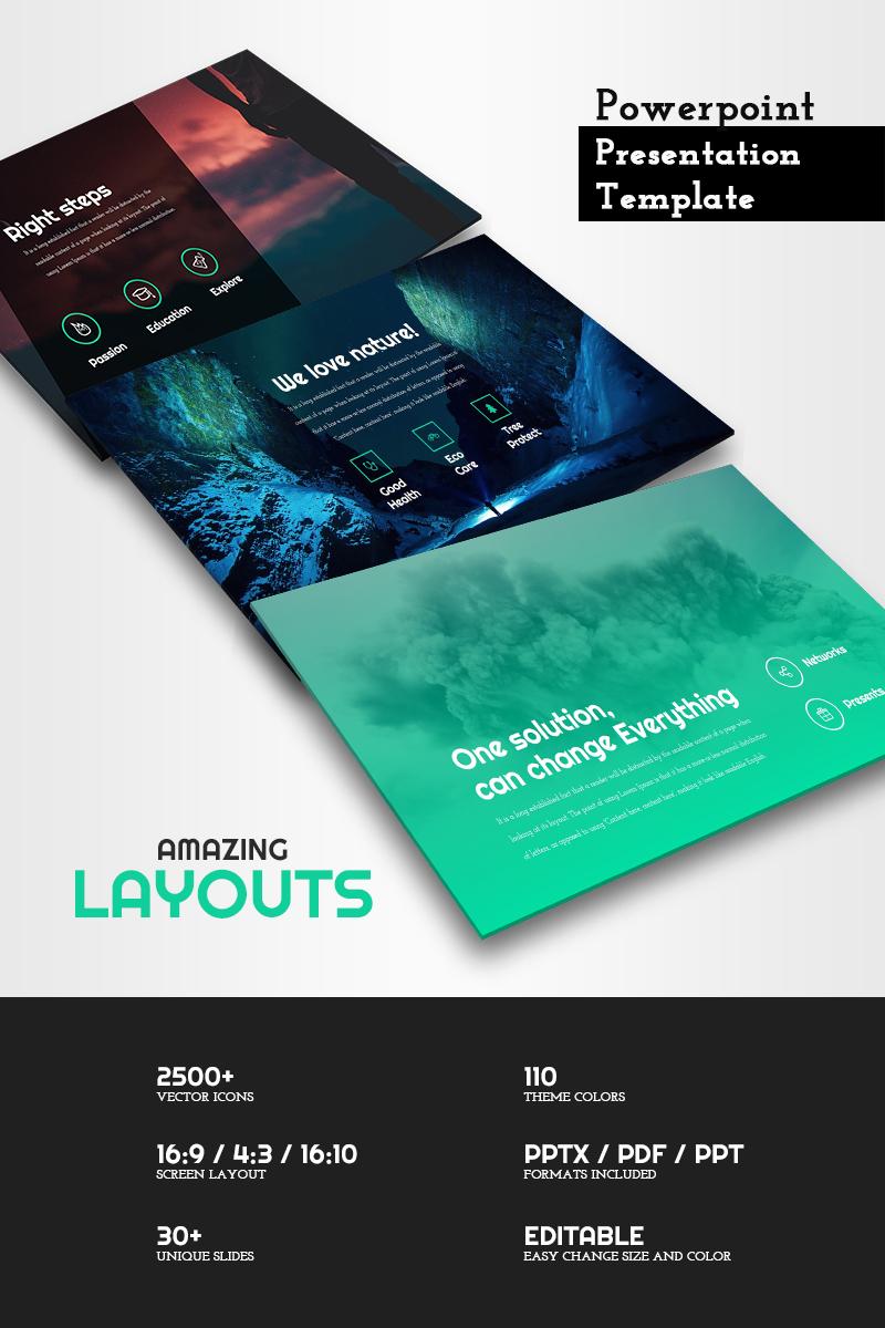 Modèle PowerPoint #65773 pour site de portfolio de designer