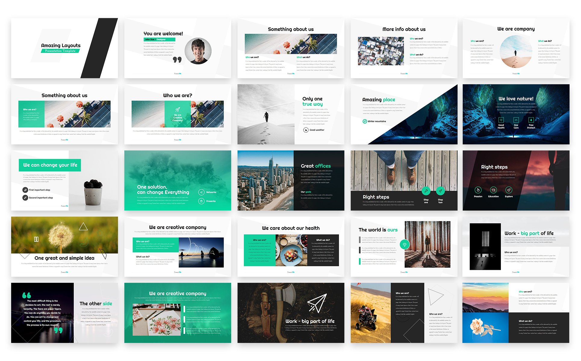 amazing layouts - powerpoint template #65773, Modern powerpoint
