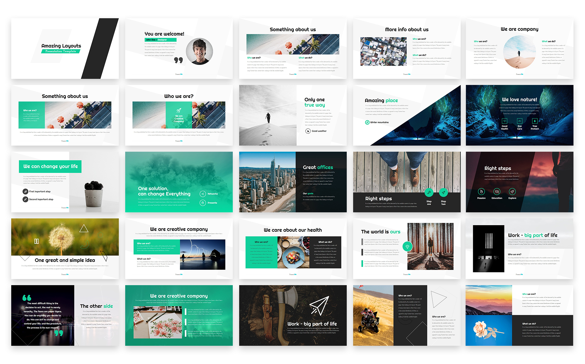 amazing layouts powerpoint template 65773