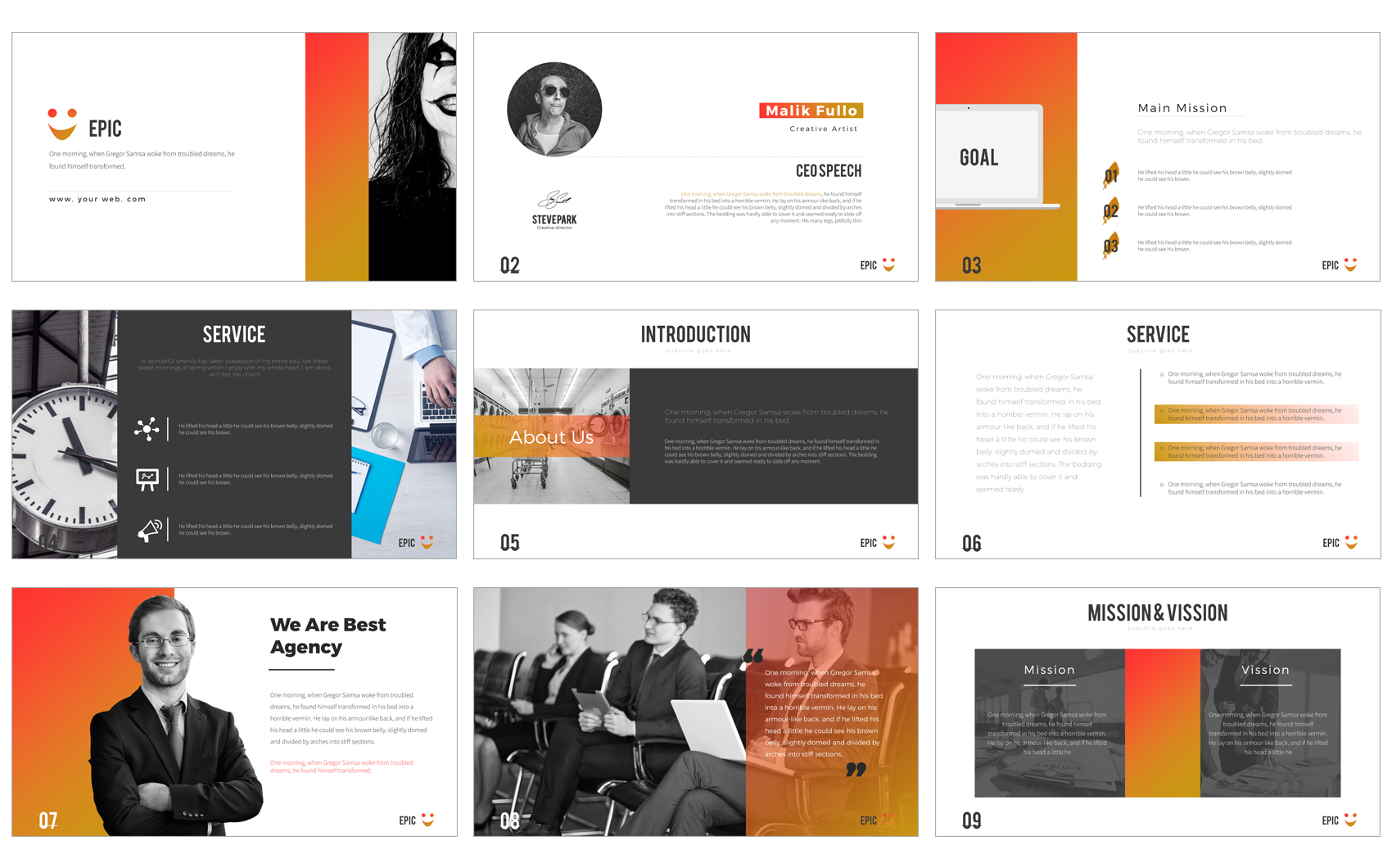 epic powerpoint presentation powerpoint template #64442, Modern powerpoint