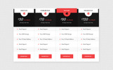 PricePress - Business Pricing Table PSD UI Elements