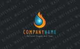 Burning Fluid - Logo Template