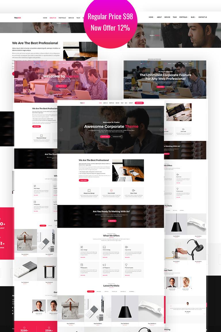Trader - Responsive Creative WordPress Theme Big Screenshot