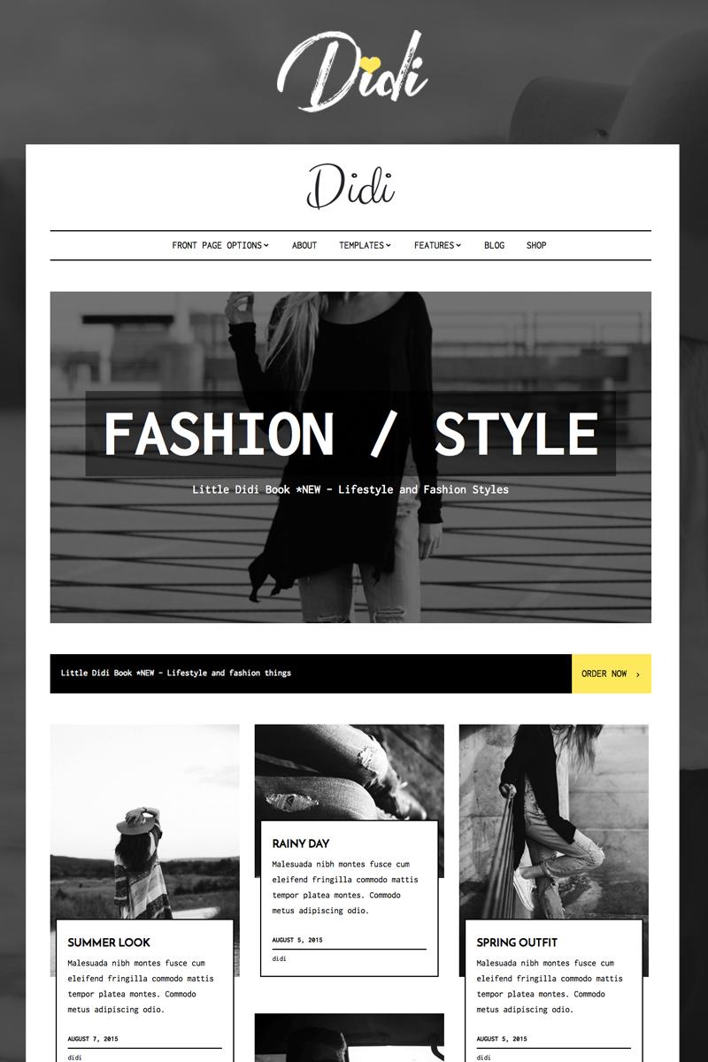 Адаптивный шаблон сайта на тему блог о моде #64081