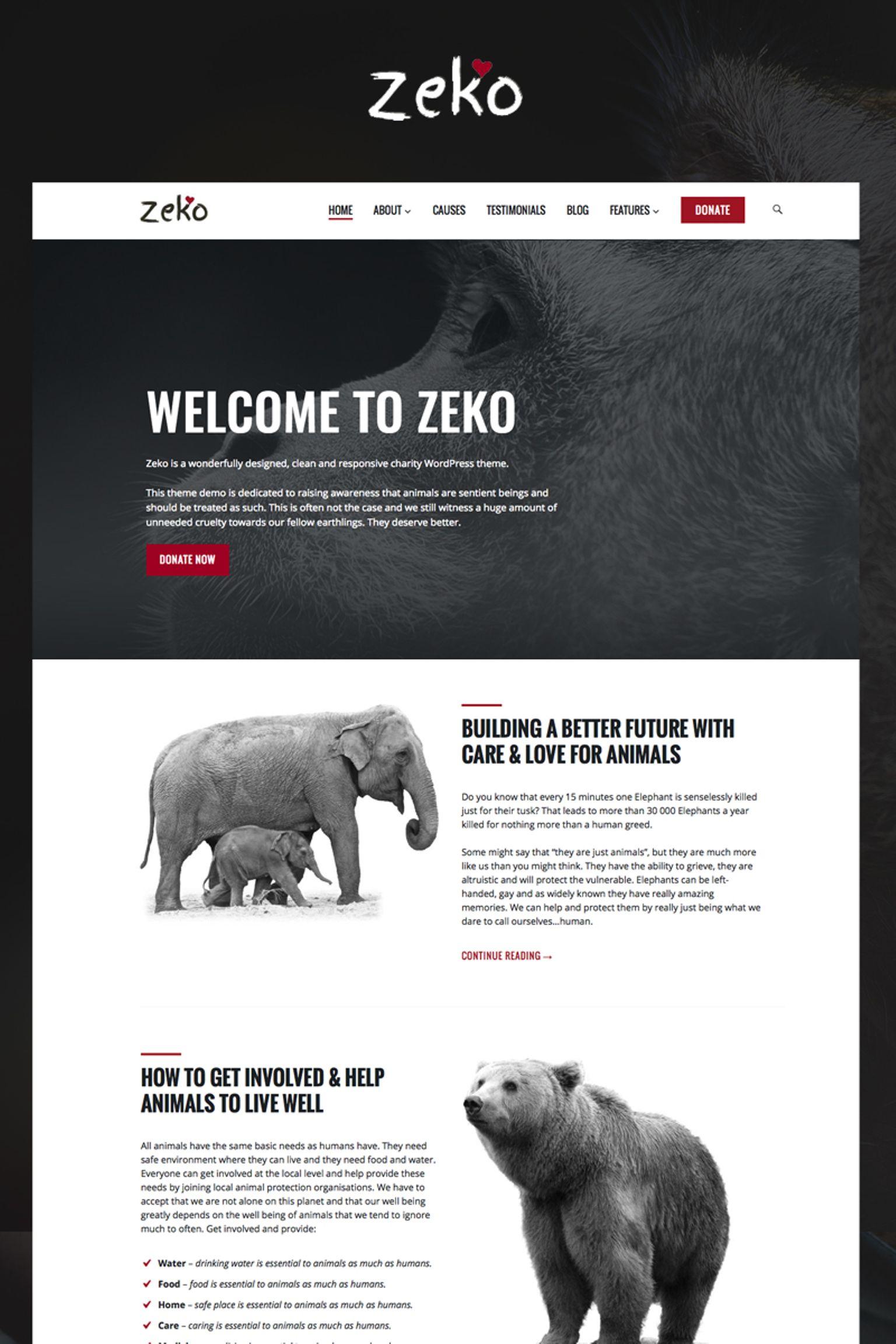 Адаптивный шаблон сайта на тему животные #65788