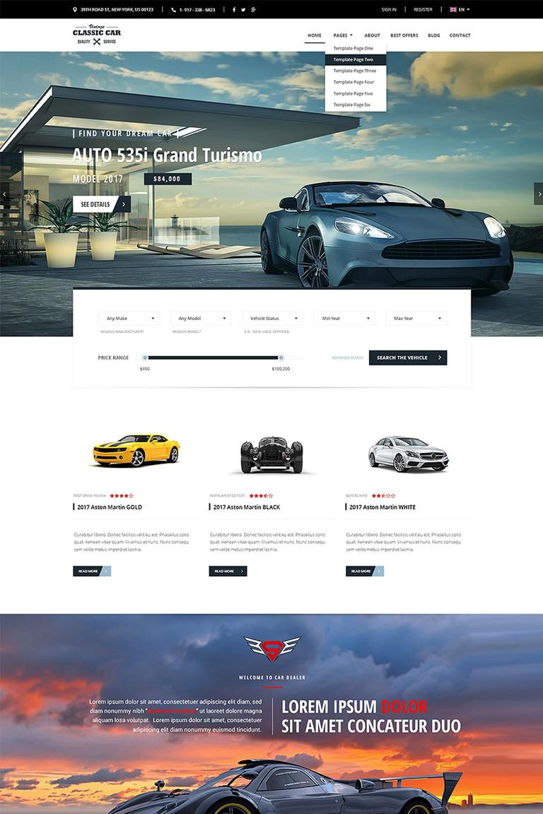 Website Vorlage #65829 für Autohaus