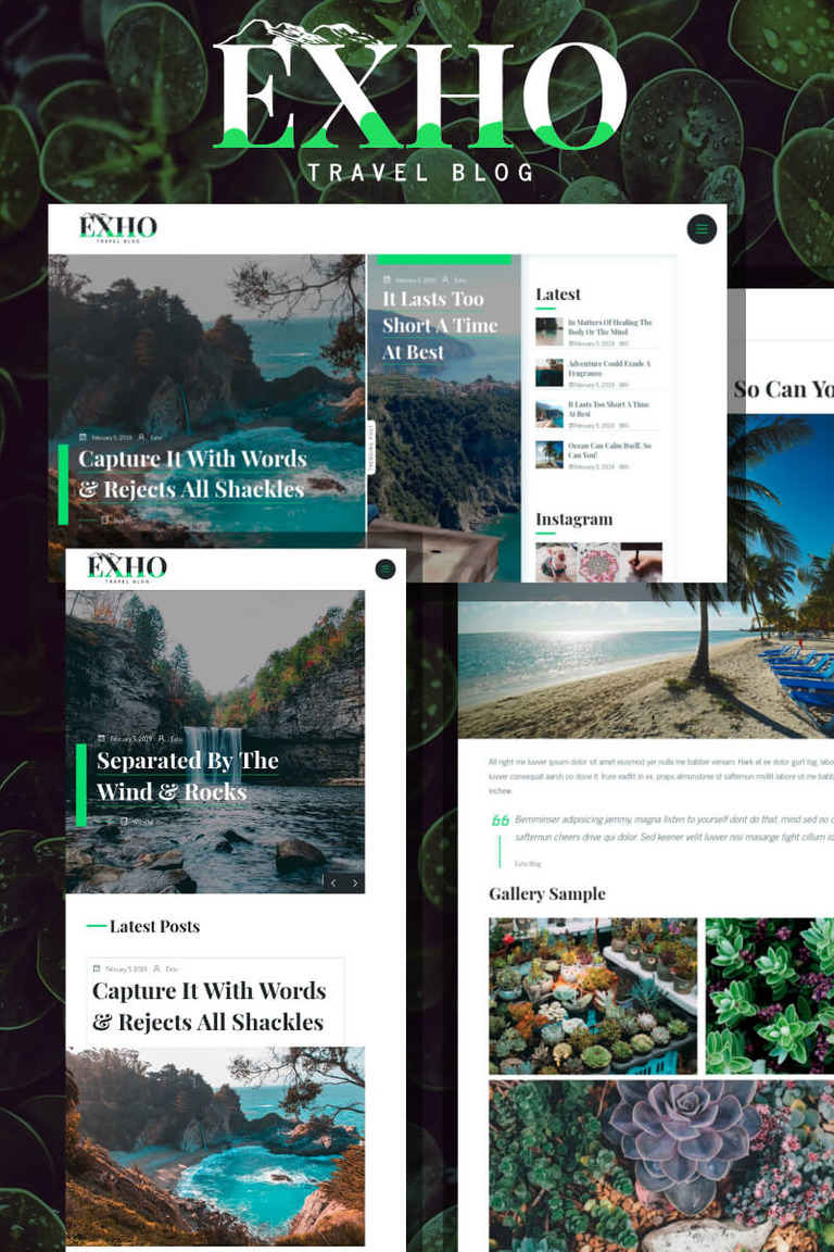Exho - A Responsive Blog WordPress Theme